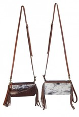 Rafter T Ranch Company Crossbody/Wristlet Bag- Cowhide/Leather w/ Studs