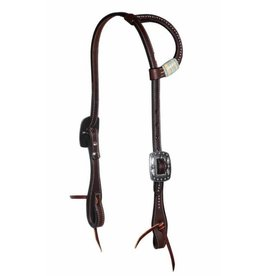 Professional's Choice Black Rawhide Dotted One-Ear Headstalls