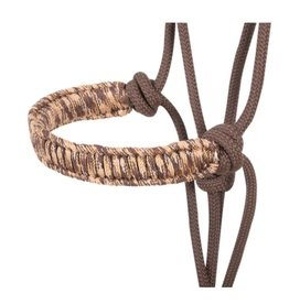 Classic Equine Braided Rope Nose Halter Brown Camo w. 7.5' Lead