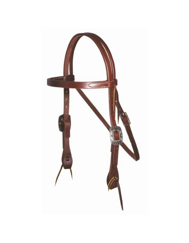 Professional's Choice Browband Headstall W/ 3/4 Feather Concho