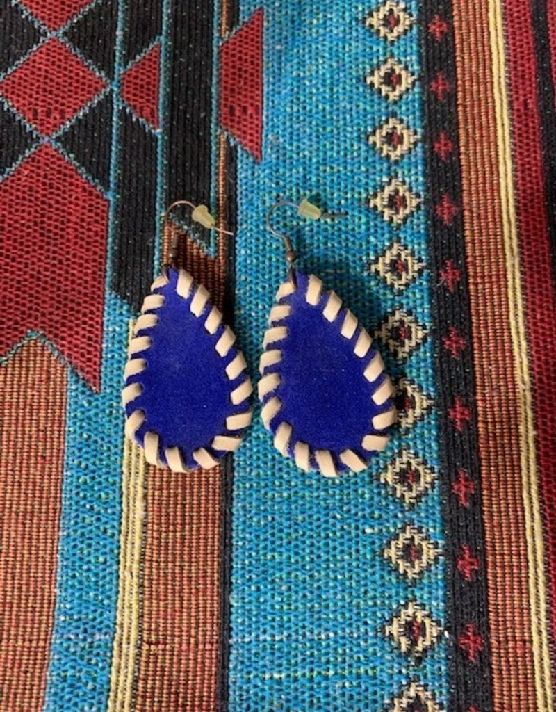 Dakota Cowgirl Laced Leather Earrings