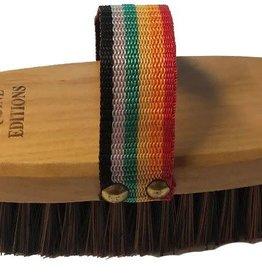 Chick Saddlery Mod Brush w/Rainbow Web Handle