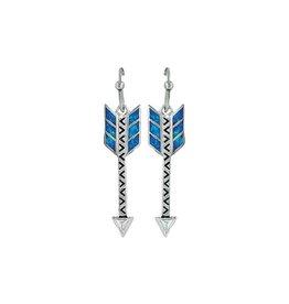 Montana Silversmiths Opal Arrow Earrings