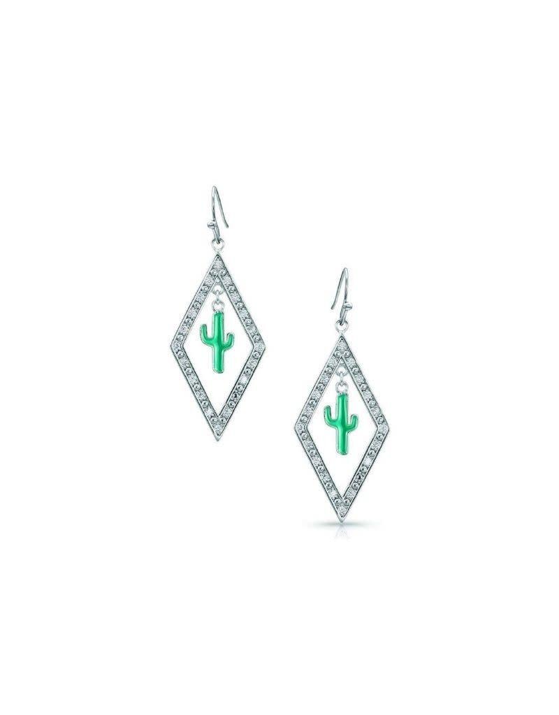 Montana Silversmiths Diamond Cactus Earrings