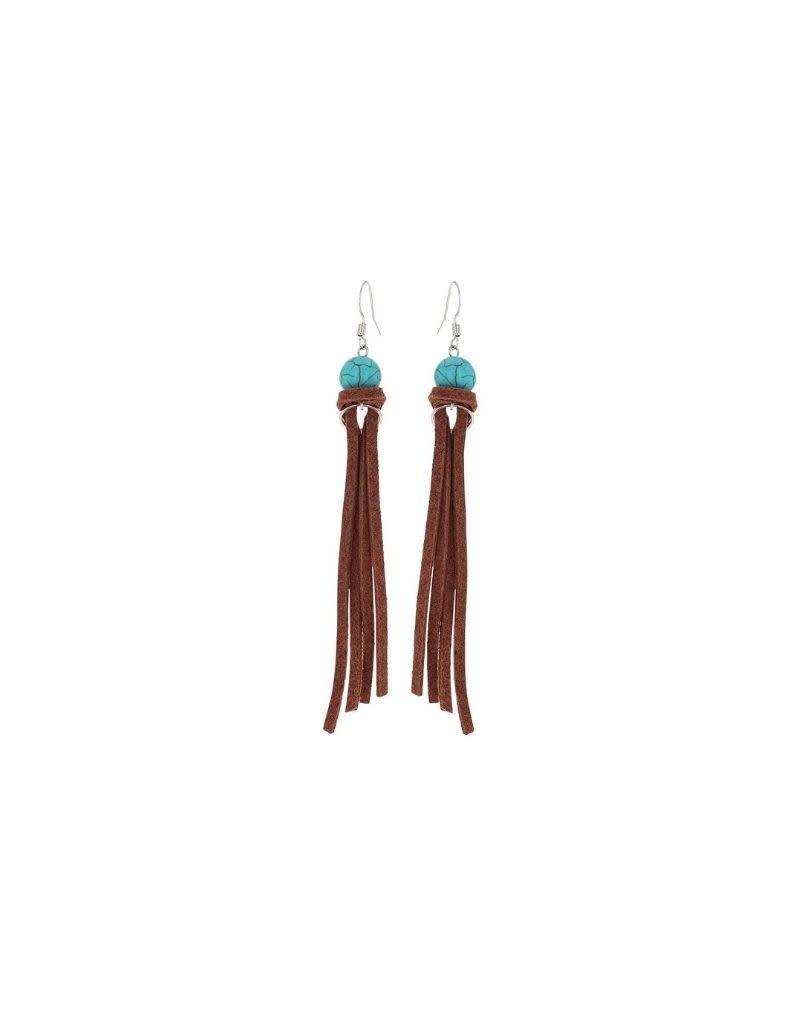 Montana Silversmiths Tasseled Turquoise Earrings