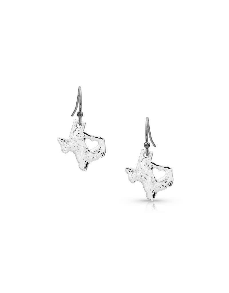 Montana Silversmiths I Heart Texas Earrings