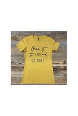 Go Rope Vintage Gold Cotton T-Shirt