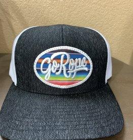 Go Rope Serape Patch Trucker Hat