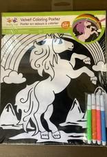 Chick Saddlery Unicorn Velvet Coloring Poster