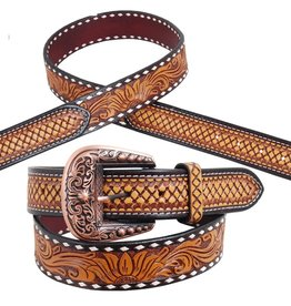 Rafter T Ranch Company Ladies Belt w/Sunflower Tooling