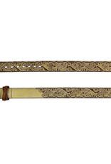 Catchfly Ladies Belt Warm Metallic Tooling