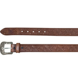 Hooey Men's Belt Tooled Pecan