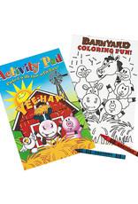 Oriental Trading Farm Animals Activity Pad w/2pk Crayon