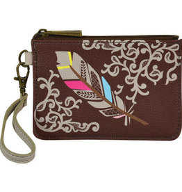 Catchfly Mini Card Wallet Feather