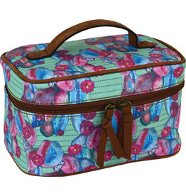 Catchfly Train Case Floral Cow Watercolor