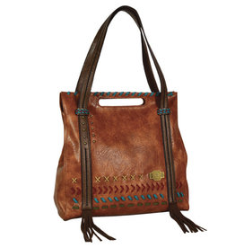 Catchfly Bailey Tote Russet w/Stitching