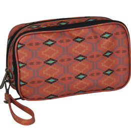 Justin Double Cosmetic Bag Adobe Aztec