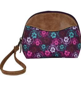 Justin Arched Cosmetic Pouch Floral