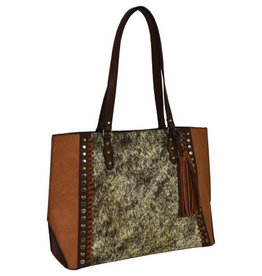 Tony Lama Tote Cognac w/Hair On