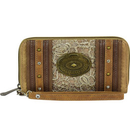 Justin Women's Wallet Tan Lace