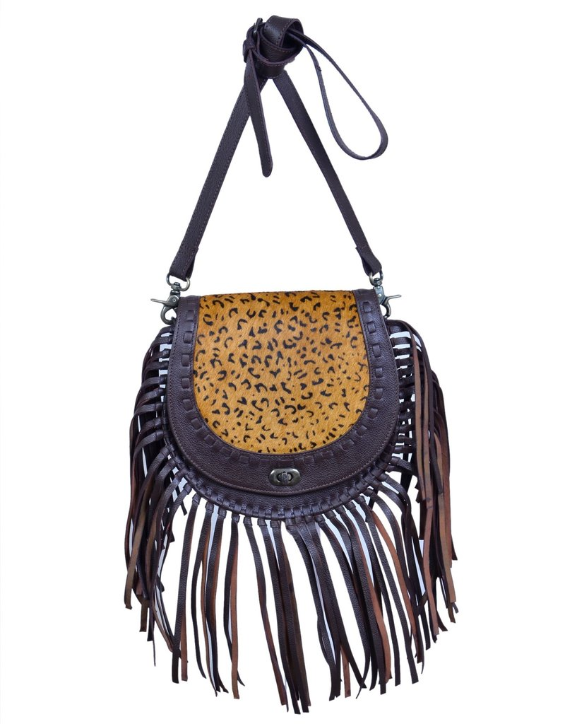 Rafter T Ranch Company Horseshoe Bag w/Leopard Hairon