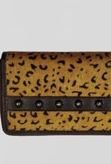 Rafter T Ranch Company Wallet - Large w/Leopard Hairon
