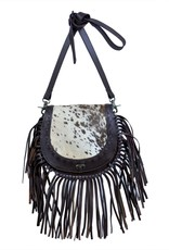 Rafter T Ranch Company Horseshoe Bag w/Black & White Hairon