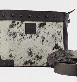 Rafter T Ranch Company Crossbody Bag- w/Black & White Hairon