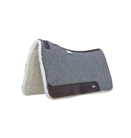 """Professional's Choice Steam Pressed Deluxe Felt Charcoal  1 1/4"""" w/fleece"""