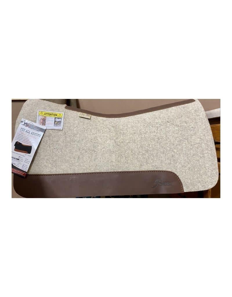 "5 Star Equine Products Flex fit 7/8"" western natural barrel pad 30 x 30"
