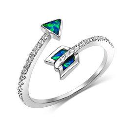 Montana Silversmiths Twisting Arrow Opal Ring