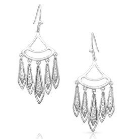 Montana Silversmiths Hammered Chandelier Earrings