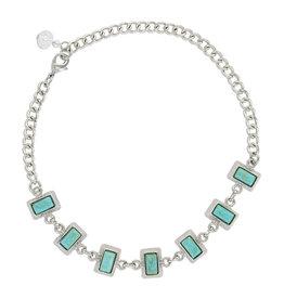 Montana Silversmiths Starlight Turquoise Choker Attitude Necklace