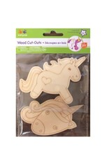 Chick Saddlery Unicorn Laser Etched Wood Cut-Outs