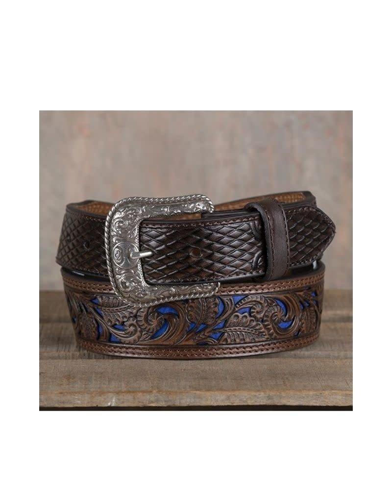 Hooey Men's Belt Blue Inlay