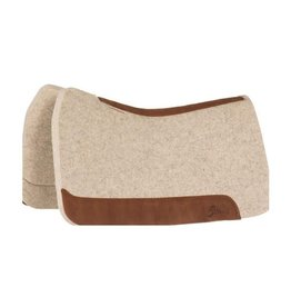 """5 Star Equine Products Flex Fit 1 1/8""""Extra Thick Western Contoured Natural Pad 32X32 W/Reg.Oro Russett Wear Leathers"""