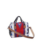 Rafter T Ranch Company Weekender Bag/Red Wool w/tooled SS/white BS