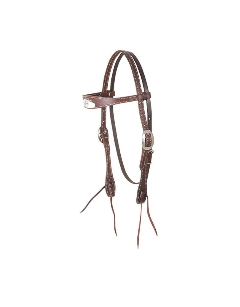 MARTIN Card Suite Chocolate Skirting Browband Headstall