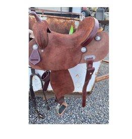 Burns Saddlery 3000 Barrel Saddle 1520HD Chocoloate RO