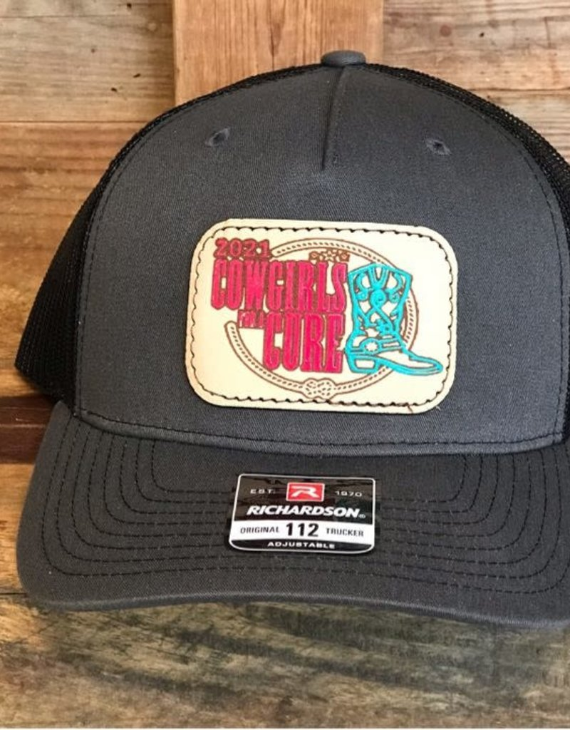 Gold Buckle Tack Cowgirls for a Cure Leather Patch Cap