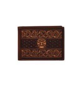 Hooey Signature Bifold Wallet Brown W/Tooling