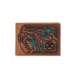 Hooey Bifold Wallet Tooled W/Black Logo