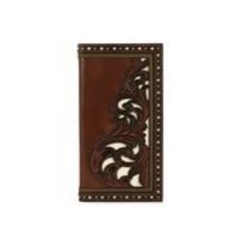 Justin Rodeo Wallet Brown W/ Tooling