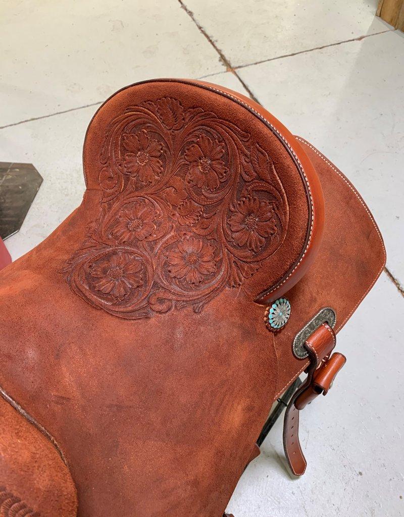 Burns Saddlery 3171 4530HD Chestnut RO w/tooled seat