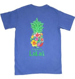 Lulu's Logo Apparel Floral Pineapple Tee