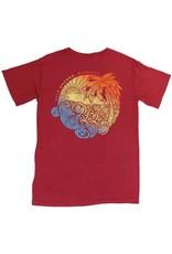 LuLu's Logo Destin Swirly Palm Tee