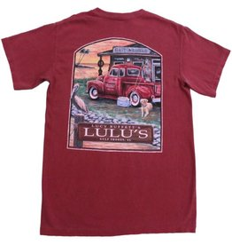 Lulu's Logo Gulf Shores Bait & Tackle Pocket Tee
