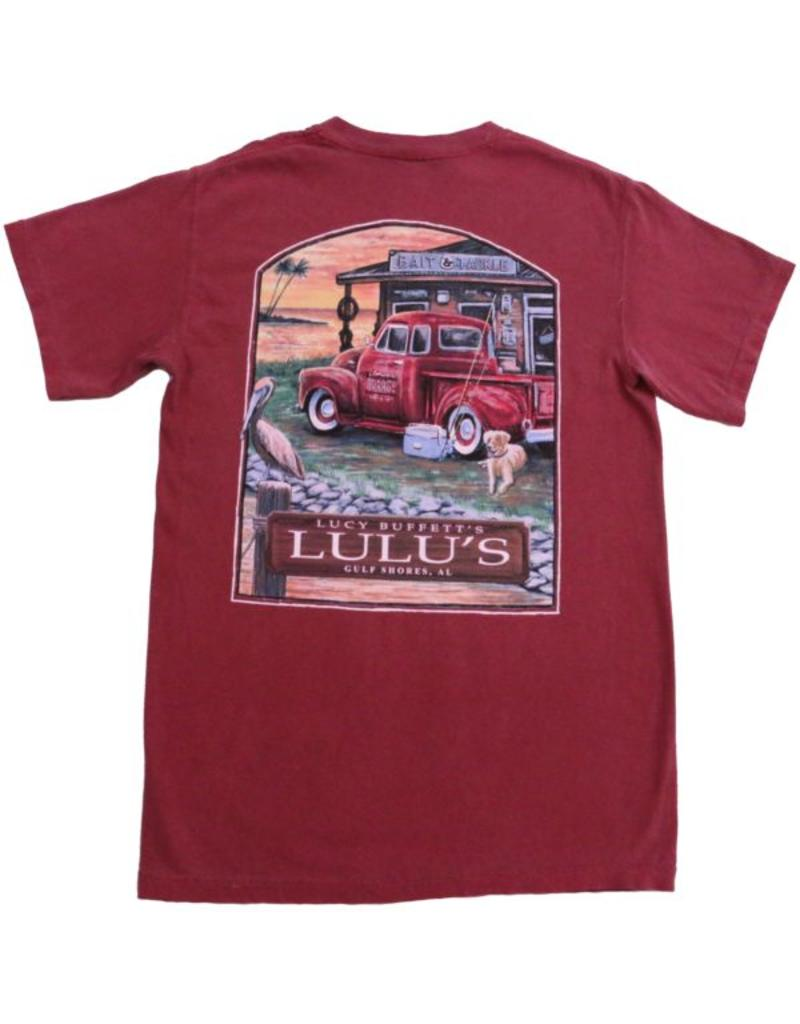 Lulu's Logo Gulf Shores Bait & Tackle Pocket Tee