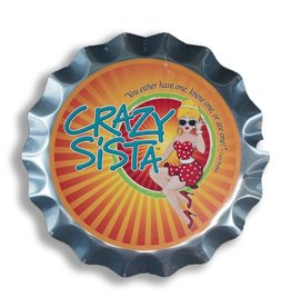 Crazy Sista Bottle Cap Sign