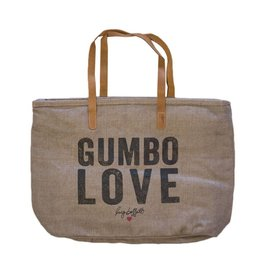 Gumbo Love Gray Tote